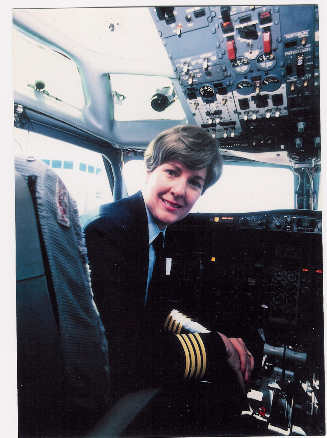 Emily Howell Warner was the first woman to pilot a scheduled-passenger airliner (Frontier).