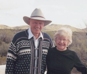 Harry and Virginia Combs at their home in Wickenburg, Ariz.