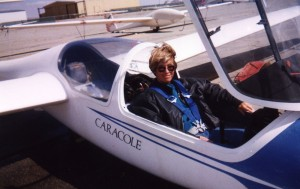 Cindy Bruckner, owner of Caracole Soaring, in Five Kilo.