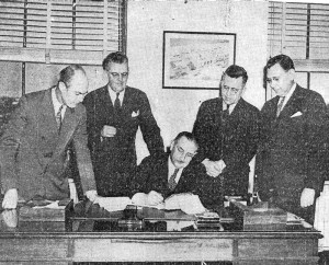 (Jan. 17, 1945 - New Rochelle NY Standard Star) Westchester signed for commercial operation of its Rye Lake Airport yesterday.