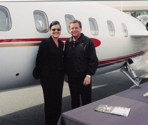 Kelley Pitts, sales and marketing administrator, and Paul Woodard, manager of marketing and technical sales of Piaggio America, Inc., were present to handle the high level of interest in the Avanti.