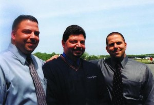 The three grandson's of Panorama's founder, left to right, Ken Healy, director of charter sales, Gene Condreras, president, and Edmund Condreras, vice president and treasurer.