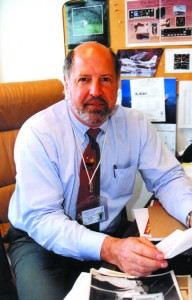 Jon Boyd, director of sales for Panorama and a Cessna dealer, at his desk.