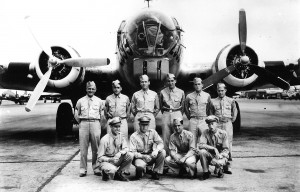 James P. Kittleson, Maxwell S. Kattef and William M. Lamkin were POWs in Stalag Luft 1. The three men, shot down while flying together, are shown here in a photo taken in July 1944, at Pyote, Texas.