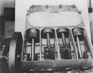 The interior of Charles Taylor's 1903 engine (with the crankshaft).