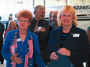 Camarillo Mayor Jan McDonald, right, and Vice Mayor Charlotte Craven, attended the reception.