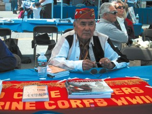 The Navajo code talkers were represented at the event.