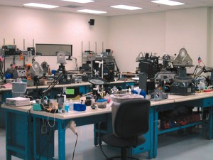 The repair benches at Mid-Continent Aviation's Van Nuys office.