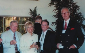 L to R: John Lane, vice president of the Arizona Aerospace Foundation with Leslie Hammond and her husband Michael Hammond, vice president of the Arizona Aerospace Foundation, and Count Ferdinand von Galen, president of the Arizona Aerospace Foundation.
