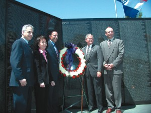 Officials and community leaders turned out to welcome the Moving Wall reproduction of the Vietnam Memorial to Scottsdale's Green Acres Mortuary April 19 to 21.
