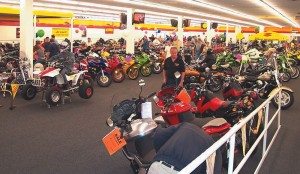 The huge showroom was buzzing but had plenty of room.