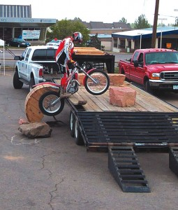 Trials Riders from the Rocky Mountain Trials Association staged three demonstrations.