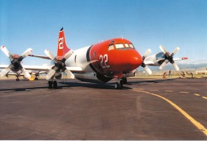 This P-3 Orion aircraft was originally built by Lockheed for the U.S. military before being converted for use as an air tanker.