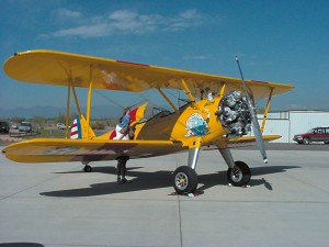 A Stearman on static display.