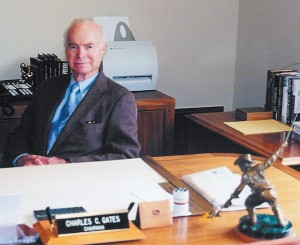"Charles C. Gates Jr., the ""Rubber Man,"" at his office in Denver."