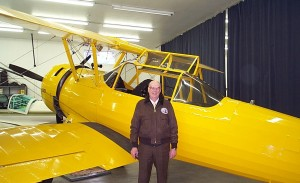 Dr. Bird's 1940 Boeing B75N1 Stearman (N2803D) was restored in 1990 and is powered by a Pratt & Whitney R-985 engine. Other modifications include enclosed canopy, a smoke system and updated instrumentation and avionics.