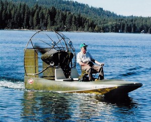 Dr. Bird's 250-hp airboat is often utilized by the local sheriff's office to zip to the aid of those facing water hazards, such as an unexpected plunge through winter ice on the lake.