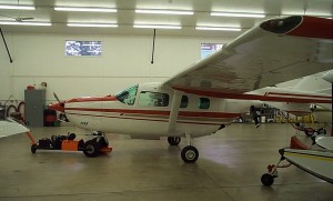 "Modifications of this ""push-pull"" 1979 Cessna T337H Skymaster (N181RD) include upgraded instrumentation and avionics, Horton STOL, aerodynamic spoilers, Flint wingtip fuel tanks and large-area empennage fairings."