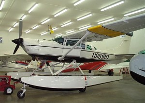 This 1980 Cessna TU206G (N98IRD) on Edo 3500 amphibious floats has modifications including a Soloy Conversions Allison 250-C20 turboshaft engine installation and STOL modifications.