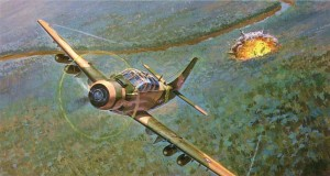 Gary Meyer painted himself into the copilot's seat of this VNAF A-1E Skyraider.
