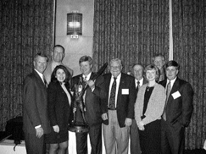 L to R: Larry Bardon, general manager, California office; Jed Johnson, aircraft sales; Carol Germanotta, VP, sales administration; David Domenico, president and owner; Ed Mehlin, aircraft sales; Buzz Rabatin, sales manager; Susan Tillman, CFO; Mike Shrade