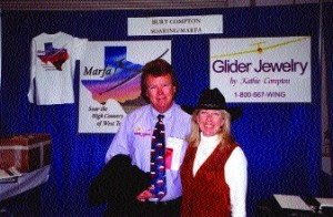 Burt and Kathie Compton of Marfa, Texas, at the Soaring Society of America Convention & Air Sports Expo at DaytonOhio, held Jan. 23-25, 2003.,