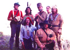 "The 1988 cast of ""A Ballad of the West"" included future movie star Wes Studi. Standing, from left: Daryl Watson, Wes Studi, Steven Fromholz, Melissa Tatum and Bobby Bridger. Kneeling: Bill Gill and Joe Sears."