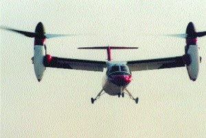 The Bell/Agusta 609 (shown here on its first public flight) can take off, land and hover like a helicopter and cruise like a fixed-wing aircraft.