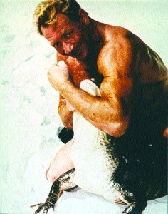 At 46, as a promotional gimmick, Ray Stern took on a friend's bet that he couldn't wrestle a crocodile.