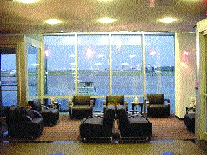 Regal Aviation lobby's view of the ramp at Love Field.