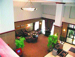 Common areas are elegantly furnished and provide a quiet place for a business meeting or to relax with a cup of tea.