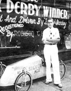 Ernie Bankey won the Soap Box Derby in 1935 and 1936 in Toledo, Ohio.