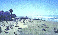 The view south from Pismo Beach pier to Oceano.