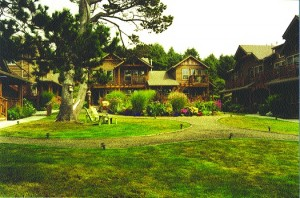 Ponderosa Pines trees and beautiful English gardens throughout the property surround the Inn at Cannon Beach.