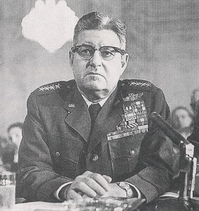 In early August 1945, Gen. Curtis LeMay authorized the order to drop the first atomic bomb.