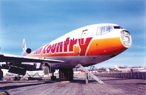This former wide-body DC-10 airliner, once operated by Sun Country Airlines, has been parted out by Max Power. Converted into a habitat for humans, it could be the mansion of all airplane homes.