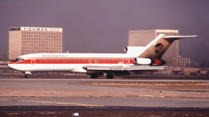Above: In December 1988, this 727 (N88701) was transporting passengers for Continental Airlines.