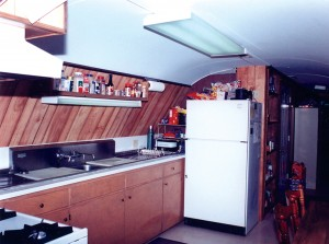 The kitchen area has all of the standard appliances.