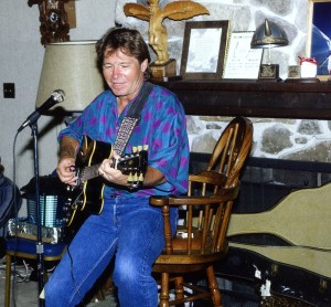 The late John Denver serenaded guests on one of several trips to the ranch.