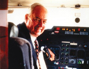 Clay Lacy has flown more than 300 different aircraft types, has over 30 different type ratings and has accumulated over 50,000 flight hours, reportedly more than any other human.