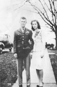Glennis and Chuck Yeager on their wedding day.