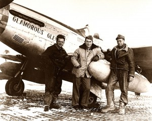 Chuck Yeager's P-51 Mustang with ground crew.