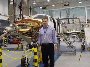 Adam Aircraft CEO Rick Adam with A500 s/n 005.
