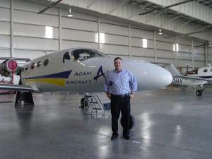 CEO Rick Adam with the A700 AdamJet.