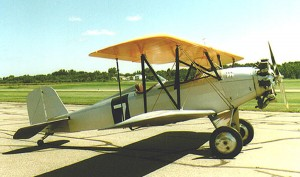 This beautiful 1929 Alliance Argo, owned by Greg Herrick, is displayed at his Golden Wings Museum. Built by Alliance Aircraft, only two of this type of aircraft remain today; Herrick's is the only one that's airworthy.