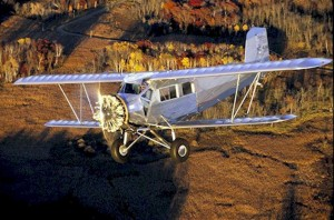 Gene Frank, a former crop-duster, sold Greg Herrick this 1938 Cunningham-Hall PT-6F and his 4-AT Ford Tri-Motor.