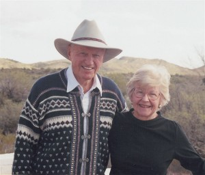 Harry and Ginney Combs, at their home in Wickenburg, Ariz., in 2001.