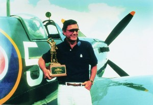 "Cliff Robertson, with a Spitfire he acquired from the Belgium Air Force, was awarded the Experimental Aircraft Association's highest honor, the ""Freedom of Flight Award,"" for his role in the organization's ""In Pursuit of Dreams"" presentation in 1987."