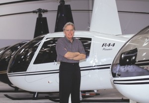 Frank Robinson, 74, Robinson Helicopter Company's founder and CEO, still flies his R44 Raven II for business and pleasure.