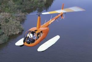 An R44 with fixed floats makes landing in water a simple task.